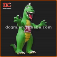 Attractive Large Green Fixed Inflatable Dinosaur