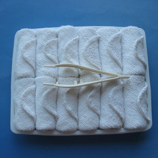 airline face towel for business class served hot and cold