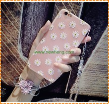 Diamond Case for iPhone 7 plus Chic Flower Bling Soft TPU Clear Phone Cover