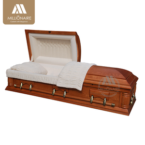 Wooden adult cremation casket