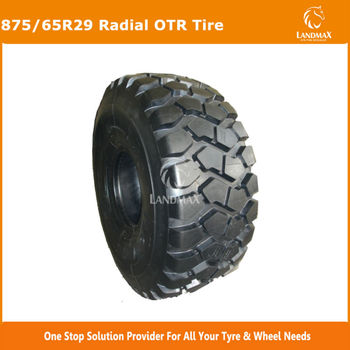 875/65R29 New Radial Dump Truck Off Road Tire