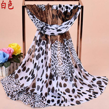Wholesale Women Leopard Printed Chiffon Scarf