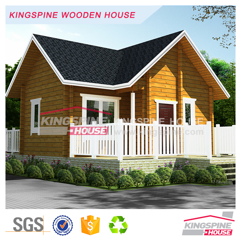Small Prefab Log house wooden cottage with terrace Manufactory Price KPL-099