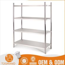 Professional Customizable Stainless Steel 4 Layers Heavy Duty Warehouse Storage Shelf Rack