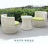 factory price outdoor furniture aluminum rattan table and chair