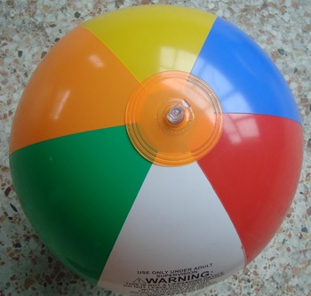 Six Color PVC Inflatable Beach Ball with Customized LOGO