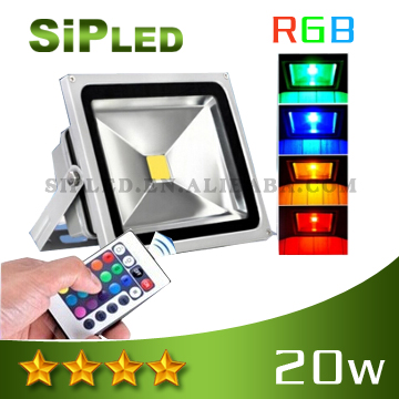 20W IP65 Christmas color changing outdoor led flood light /rgb led flood light