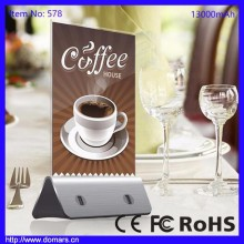 Best Selling Products In Europe 13000mAh Coffee Shop Power Bank Menu