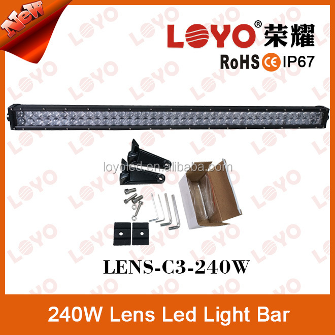 "High quality 24 inch 240w bar light car roof rack 24"" led light bars"