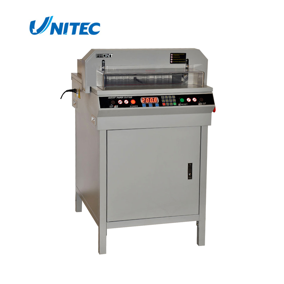 2017 Hot Sale electric paper cutter trimmer guillotine machine with LCD light