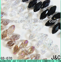 6*12mm all kinds of color drop shaped glass beads