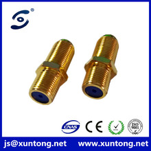 Hot sale F female to F female Connector F81 / DUAL F FEMALE W/NUT connector adapters cheaper price
