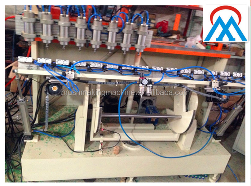 wooden handle 8 heads drilling machine/wood handles multi heads drilliing machine/wooden handle making mahcine