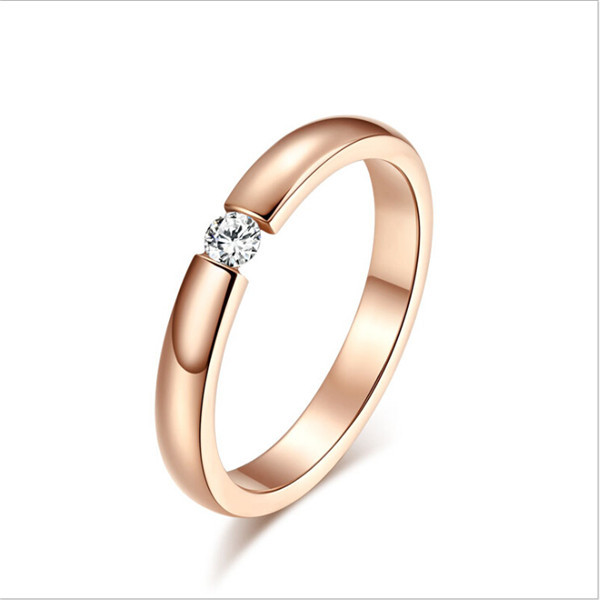 Yiwu Aceon Stainless Steel diamond cut out rose gold cheap diamond ring