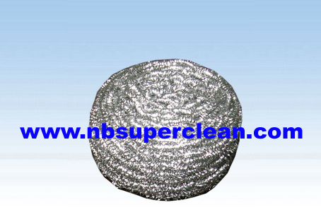 stainless steel scourer Galvanized wire Scourer for kitchen cleaning