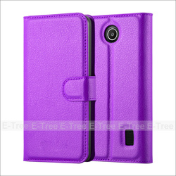 Lichee Wallet Pu Leather Cellphone Case Cover For Huawei Y635