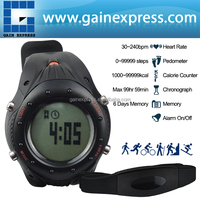 Digital Sports Watch Heart Rate Monitor Pedometer Exercise Chronograph Belt Fitness Watches Fat Calorie Counter 30~240bpm
