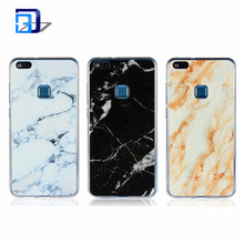 Cell Phone Mobile Marble Design Clear Bumper TPU Soft Rubber Silicone +Hard PC Back Cover Case For Huawei P10 Lite
