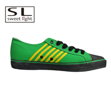 Green good quality new model canvas shoes men