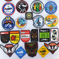 Airsoft Morale air force pilot PVC Patches Backed 3d garment rubber patch badge, flying aircraft guardians Indian patch