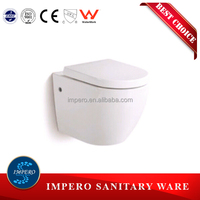 Sanitary Ware Bathroom Concealed Tank WC Ceramic Wall Hung Toilet