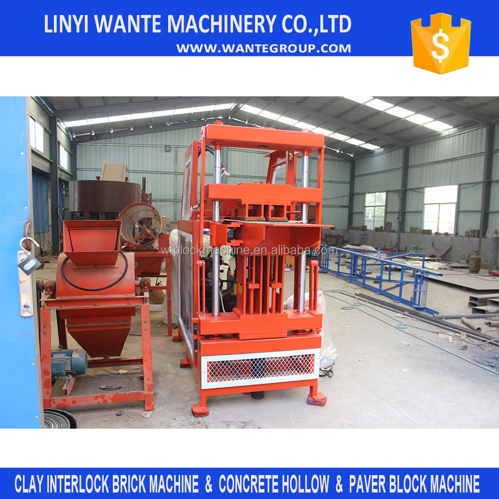 WT2-10 motor engine block and brick making machine