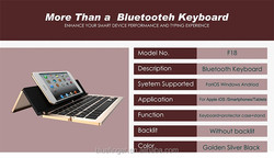 Dongguan Manufacturer Durable Foldable Bluetooth 3.0 keyboard Aluminum alloy for iPad,iPhone,smart phones and tablets with View