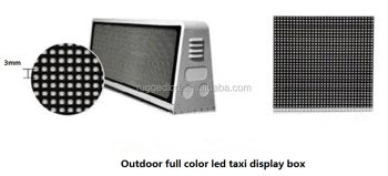 Taxi top LED advertising screen