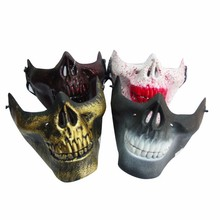 Cheap custom newest style half skull mask
