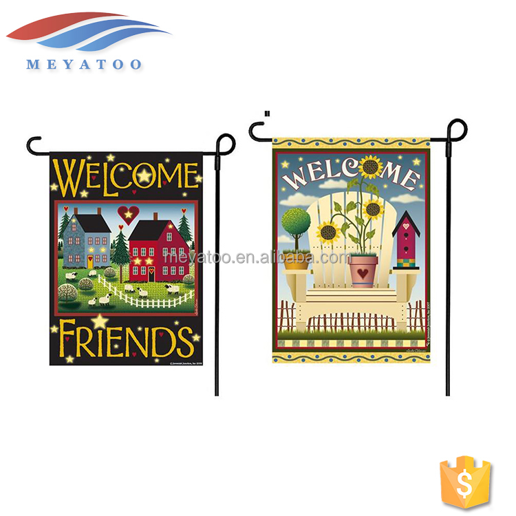 Free Samples Promotion Wholesale Banner Stands Decoration Outdoor Garden Flag Pole For Sale