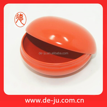 Orange container seperately cover cheap metal tin box round