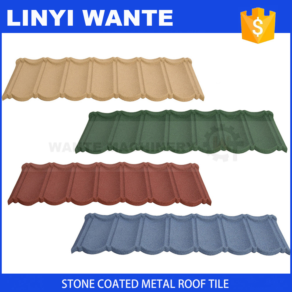 Hot sale in Africa stone coated metal roof tile