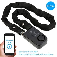 Smart Bluetooth bike lock alarm Anti Theft 110db Alarm Waterproof Lock for IOS Android Samrtphone keyless Steel Wire