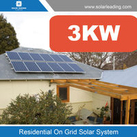One stop solution 3kw high efficiency solar power system include inverter generator for Panama market