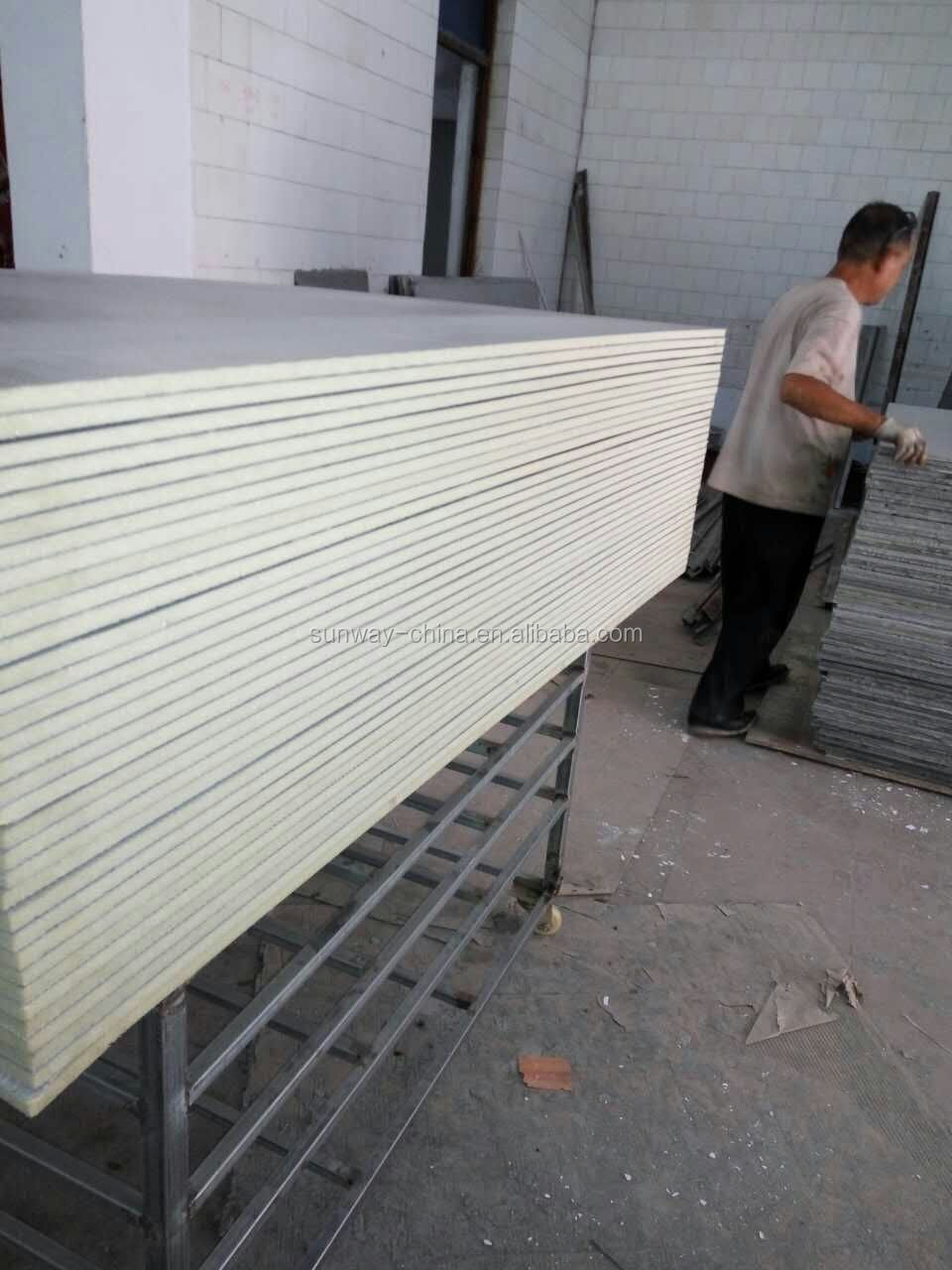 Tile backer board customized thickness reinforced with glassfibre mesh4*6 for USA
