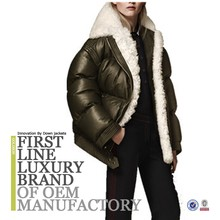 2017 The Newest European New Style Mature Elegant Women Down Jacket For Winters Parka Fur Decoration