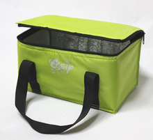 custom polyester non woven cans thermal frozen food lunch insulated cooler bag