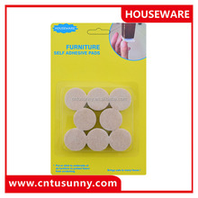 good quality small round adhesive felt pads for furniture legs cover