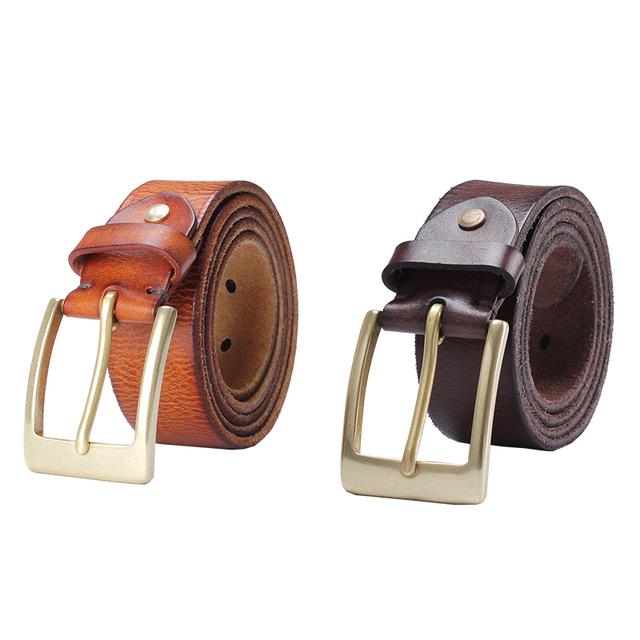 Top Leather Belt Custom Pin Buckle Cow Leather Men Fashion Belt
