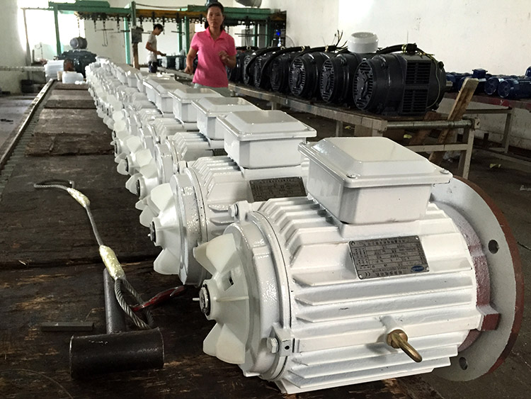 Kw Ac Industrial Three Phase Induction Motor With