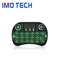Shenzhen IMO i8 Mini Wireless Keyboard with touchpad 3 Color Night Light Keyboard 2.4G Air Mouse for X96 mini Android tv box