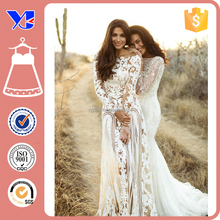 Made in China Plus size Sexy Cheap Wedding dresses China Supplier Long sleeve Lace Wedding Dresses for Fat women