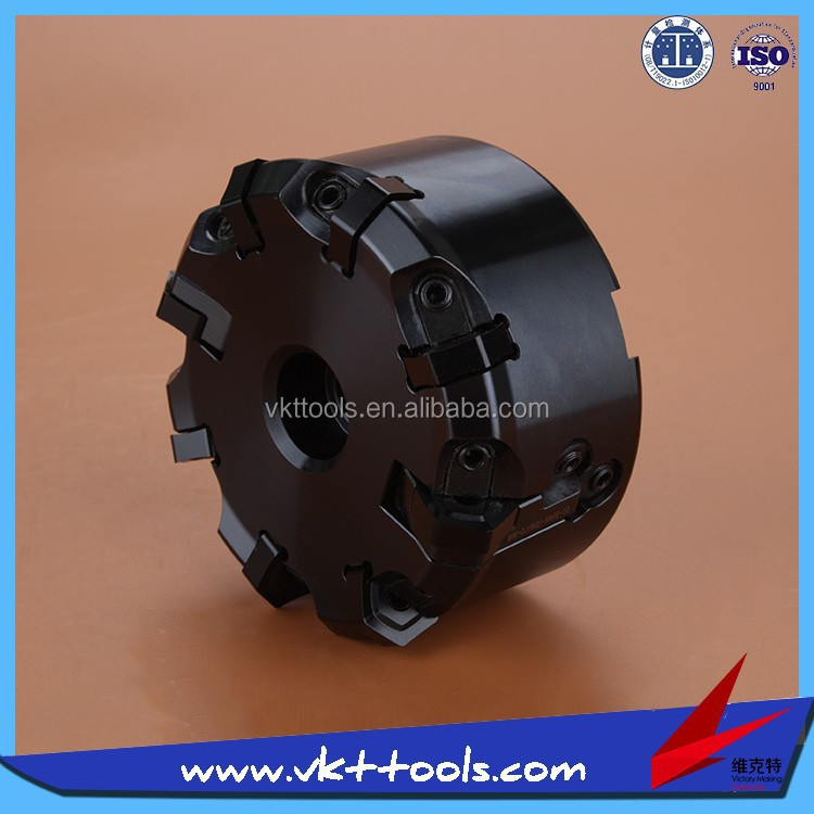 VKT--------CNC Indexable milling cutter face mill head on sale-------MF45-80.8-HN09-A27-WT