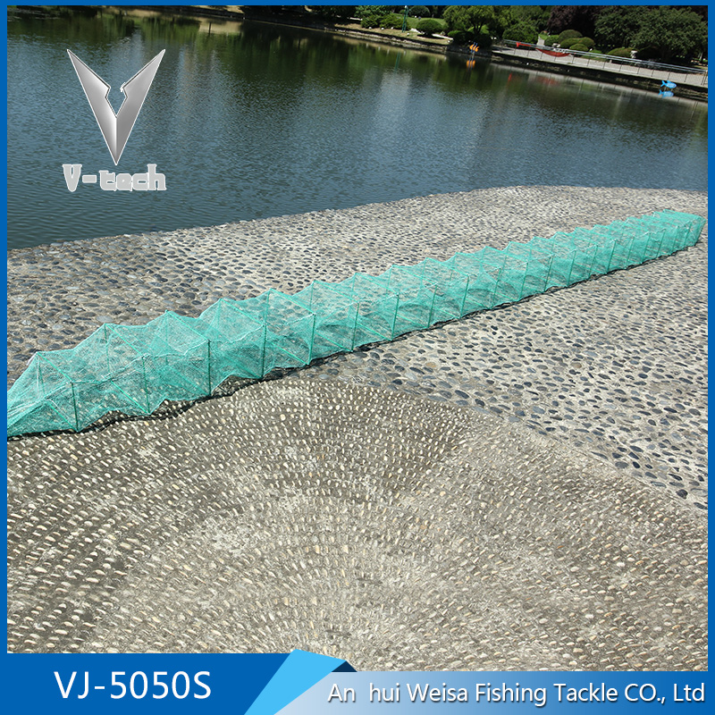 Durable foldable 5m nylon aquaculture cage