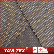 Mass production good anti-wear poly stretch little check jacquard fabric
