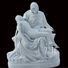 Factory Supply white marble pieta statues