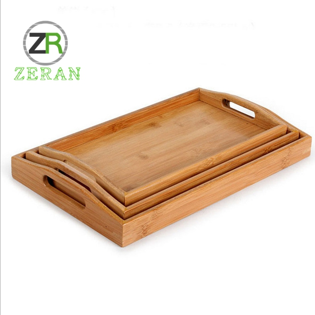 High quality <strong>natural</strong> wholesale handmade tableware home food storage fruit food serving bamboo dinnerware tray