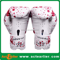 custom printed promotional PU leather boxing gloves custom