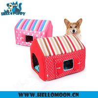 Windproof Removable Colorful Stripes Two Pieces Set Dog Home