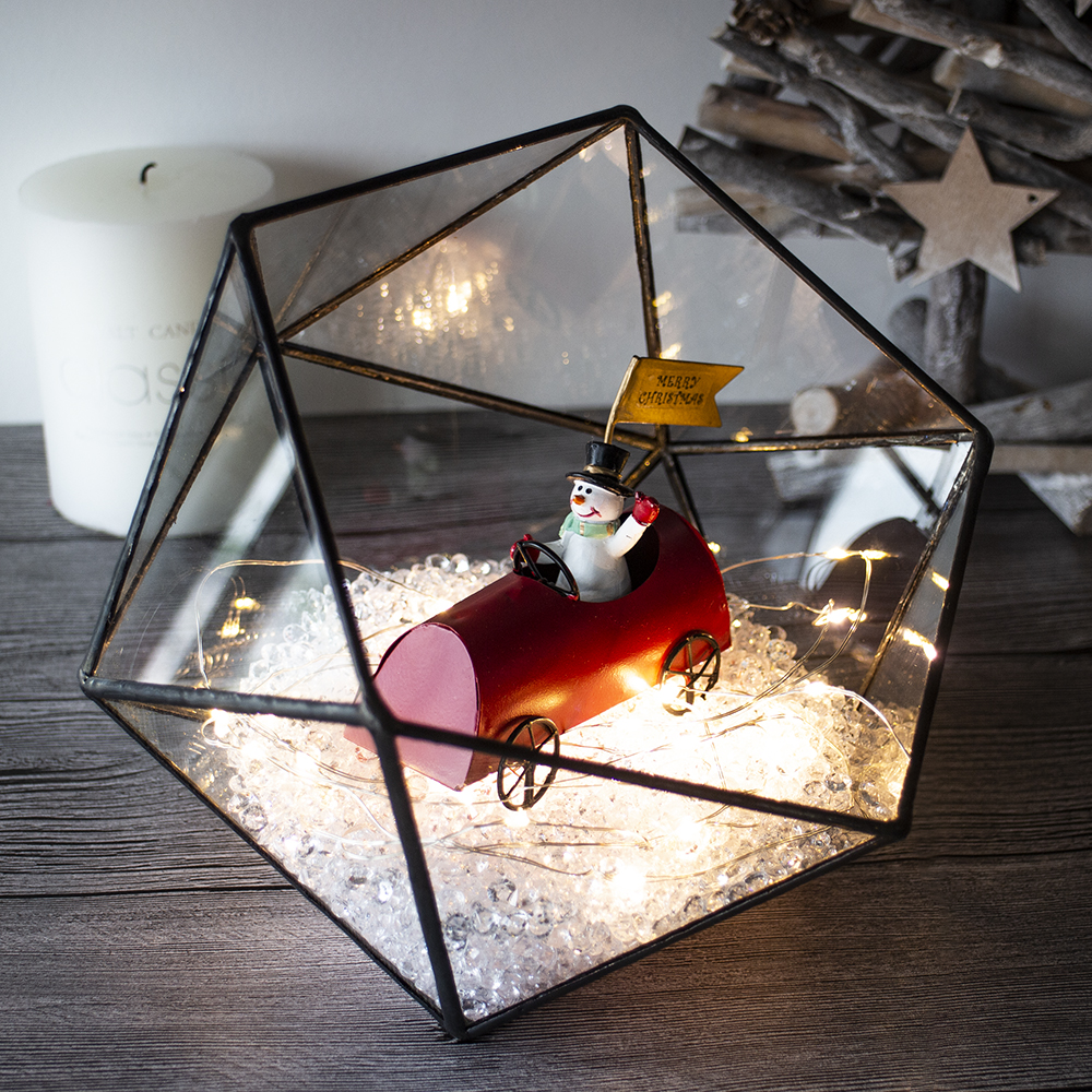 2019 wholesale  candle lantern plant glass card jewelry box globe metal clear geometric glass terrarium